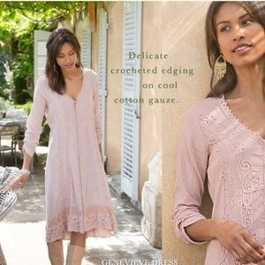 Soft Surroundings NWT Genevieve Dusty Rose Dress